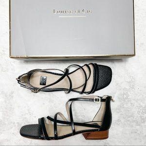 Louise et Cie Black Leather Strappy Eleri Sandal 8
